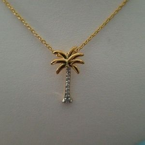 Jewelry - Palm Tree and Diamond Accent Necklace
